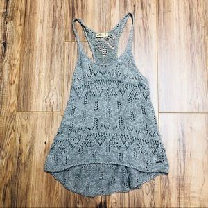 Hollister Gray Sweater Knit Tank Size Medium